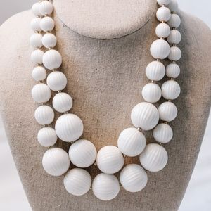 Vintage - Large Layered Beaded Necklace
